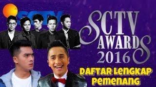 INILAH DAFTAR LENGKAP PEMENANG SCTV AWARDS 2016