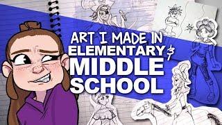 LOOKING THROUGH MY OLD ART   grade school notebooks   DrawingWiffWaffles