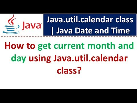 How to get current month and day using Java util calendar