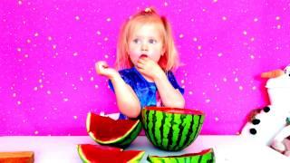 Желейный Арбуз Делаем арбуз из желе Giant Gummy Watermelon