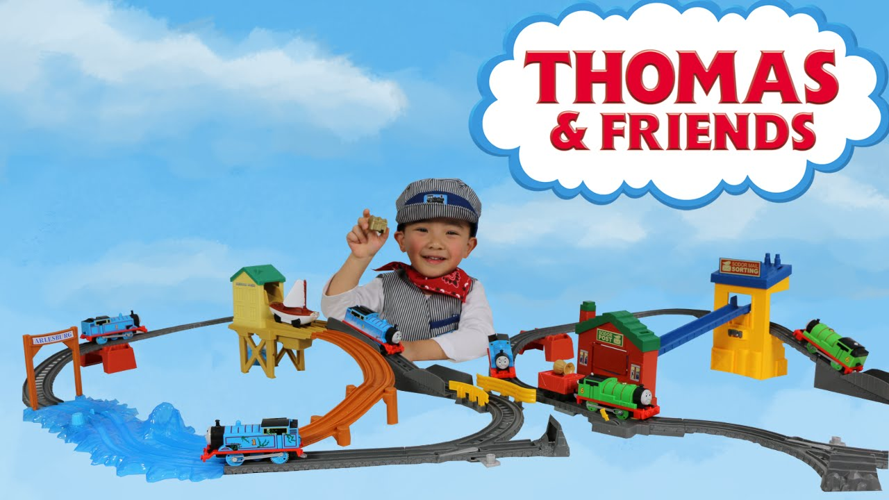 Fisher price thomas amp friends trackmaster treasure chase set new - Unboxing Thomas And Friends Motorized Treasure Chase Set Sort And Switch Delivery Set Ckn Toys Youtube