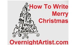 How To Draw A Christmas Tree - Write Merry Christmas