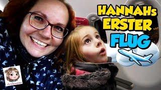 HANNAHS ERSTER FLUG ✈️ Hat sie große Angst? 😳 Wohin fliegen wir mit dem Flugzeug?