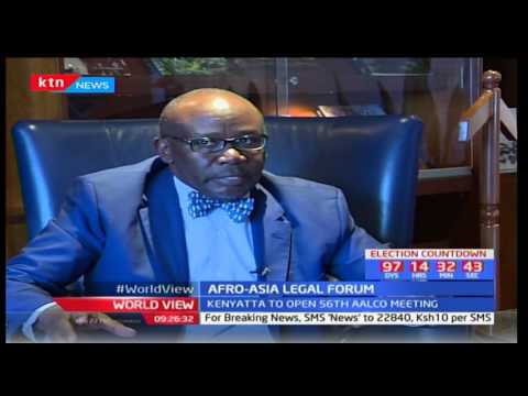 Attorney General-Githu Muigai defends his office's involvement with the Afro-Asia legal forum