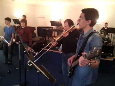 Répétition de l'école de musique et danse du saosnois, décembre 2012