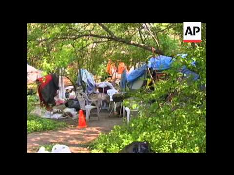 Officials in Camden, N.J., have backed off a plan to close the community''s so-called Tent City, whe