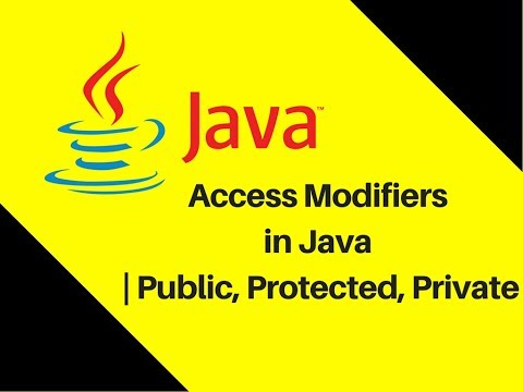 7.11 Access Modifiers in Java | Public, Protected, Private
