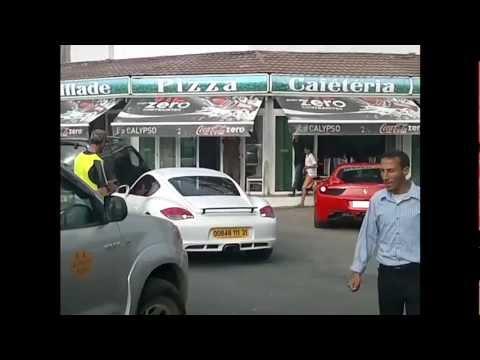 Ferrari F458 italia & Porsche Cayman à Oran Ain Turk Algerie 2012