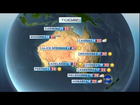 CBS This Morning - Weather broadcast in Australia