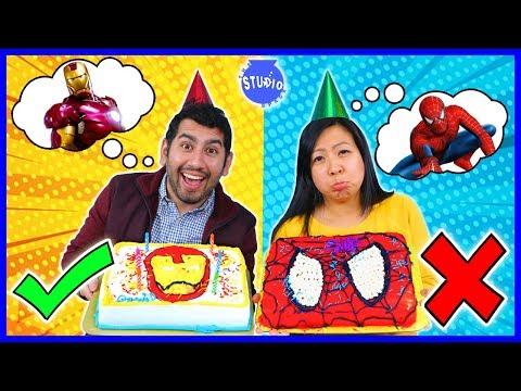 marvel-superhero-cake-decorating-challenge!-how-to-diy-spider-man-cake
