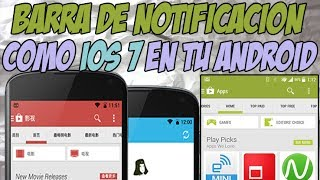 Como tener la barra de notificacion estilo IOS 7 (colores) Xposed - Tinted Status Bar