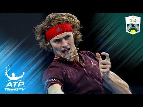 Alexander Zverev unties umpire's shoelace | Rolex Paris Masters 2017