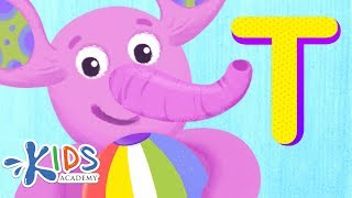Letter T   Learn the Alphabet   Kids Academy