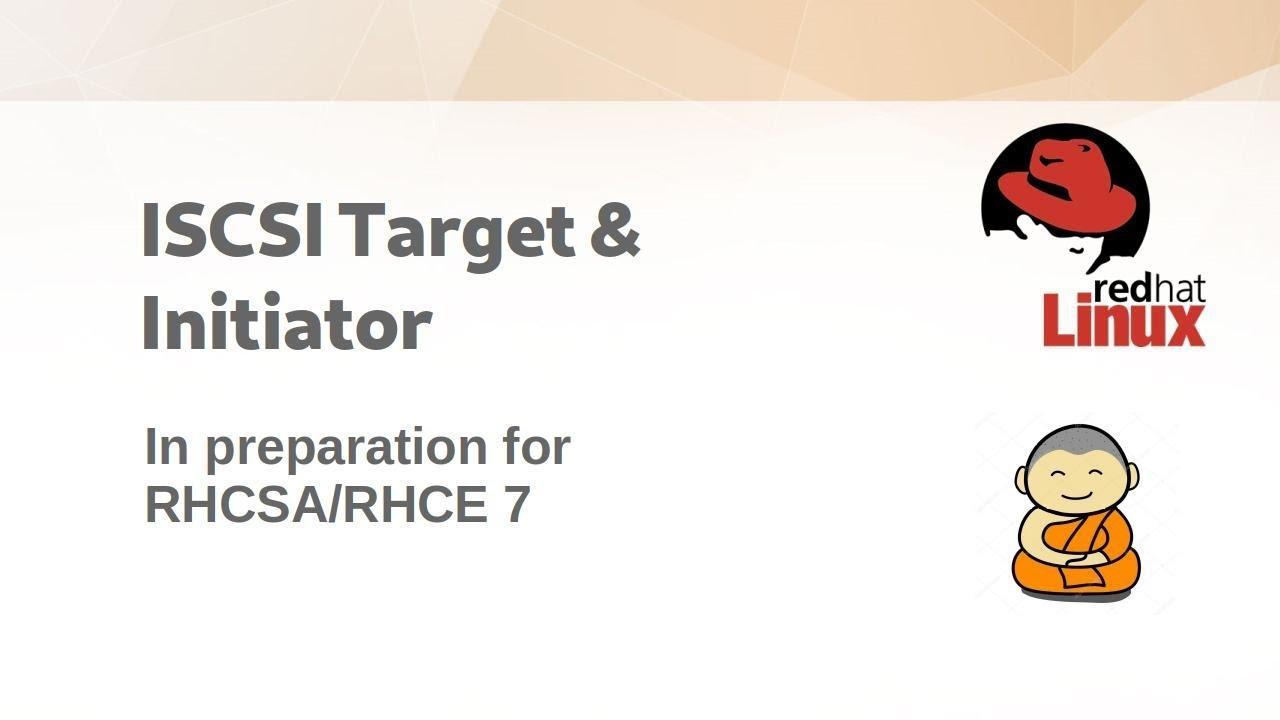 CentOS 7: Set up iSCSI Target & Initiator