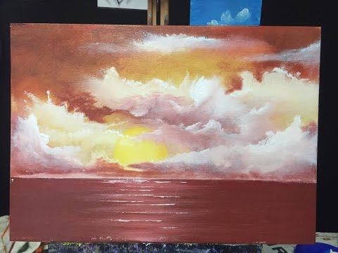 68 Beginners Sundowner Acrylic Youtube