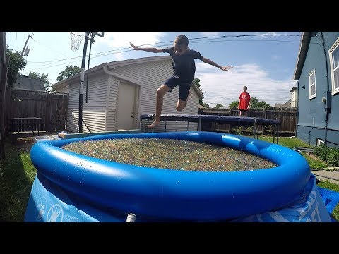1 Million Orbeez + Swimming Pool + Trampoline
