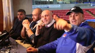 THE MOMENT THAT TYSON FURY'S DAD -  BIG JOHN FURY CALLS  OUT DAVID HAYE & LENNOX LEWIS IN PRESSER