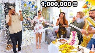 (فاجأوني بحفلة المليون مشترك | (مؤثر