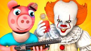 Пигги vs Пеннивайз 6: Лекарство (Финал Roblox Piggy Роблокс Свинка Пеппа Оно Хоррор 3D Анимация)