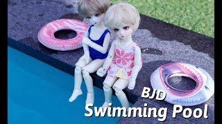 구체관절인형 옷입히기&야외출사 •USD •MSD 수영장에 갔어요:) ! / BJD Dress Up [Swimming Pool]