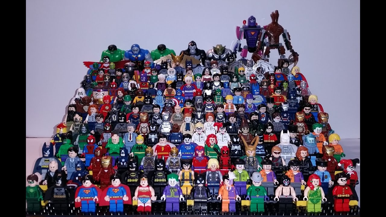 100 complete lego super heros minifigure collection of