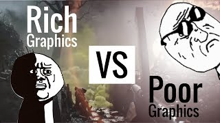 Rich Gamer Graphics VS Poor Gamer Graphics