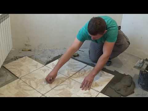 видео: Плитка на пол своими руками...