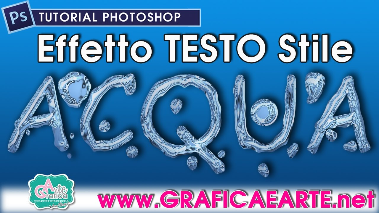 Famoso effetto - TESTO STILE ACQUA - Tut. Photoshop 135 - YouTube HD68