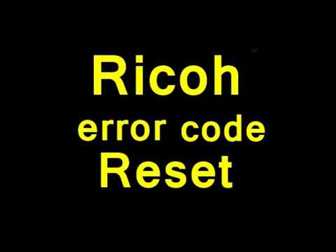 How to reset Ricoh Afficie MPC Error Code sc542 sc546 sc548 problem