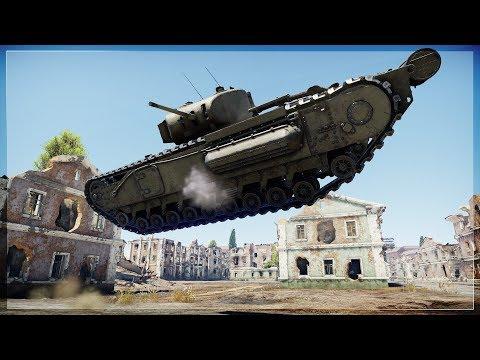 BATTLE OF TITANS | CHURCHILL MKI.1 Exposed Gameplay (War Thunder)