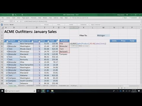 New functions and calculation capabilities in Excel - THR3018