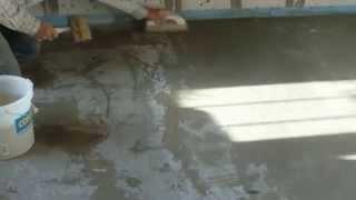 видео бетонная стяжка
