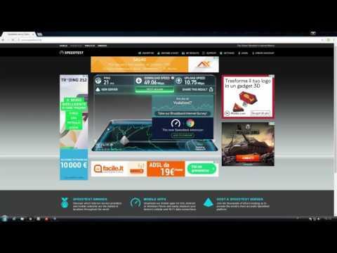 Speed Test Vodafone 50 Mega