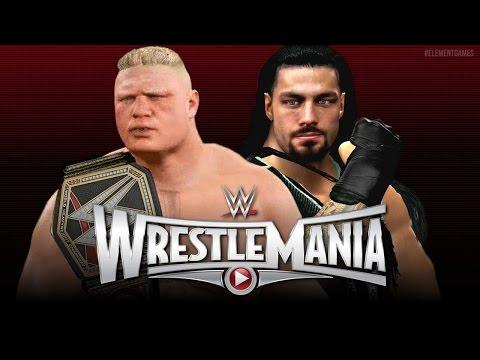 WWE Wrestlemania 31 : Roman Reigns vs Brock Lesnar - WWE Championship - EPIC Match! - (WWE 2K15)