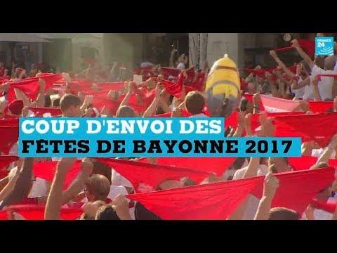 Coup d'envoi des Fêtes de Bayonne 2017