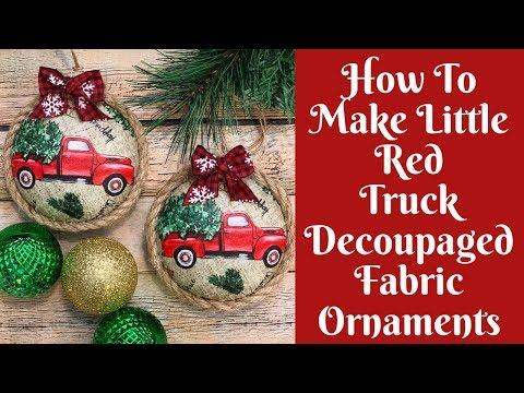 Christmas Crafts: How To Make Decoupaged Fabric Christmas Ornaments