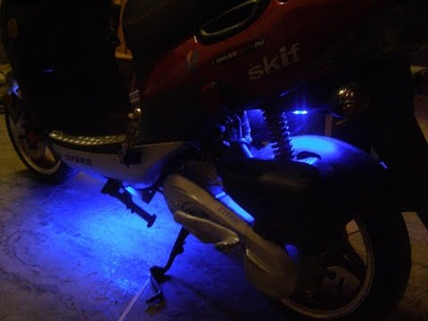 Подсветка на скутер своими руками фото 950