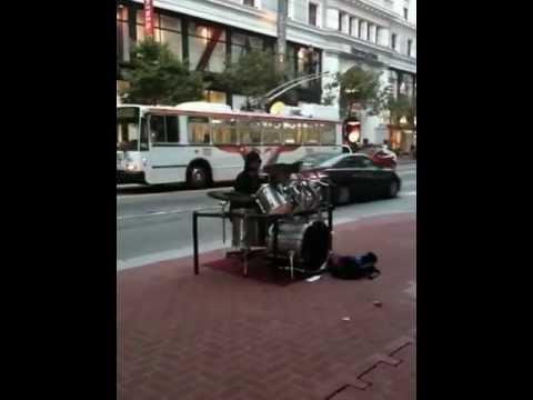 Amazing Street Drummer (Andrew Byrne)