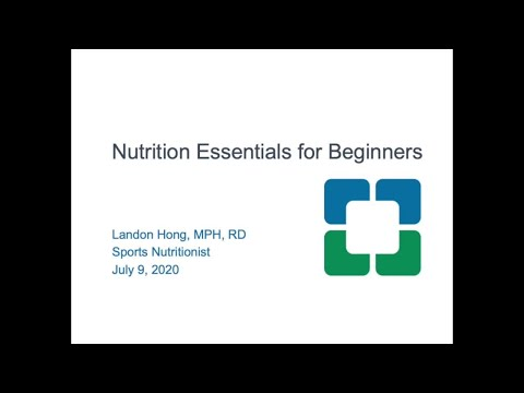Week Nine Nutrition Essentials for Beginners