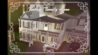 ROBLOX Welcome to Bloxburg Speed-Build: Vintage Family Home Part 2