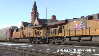 [HD] Chasing Union Pacific freights on UP
