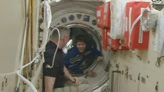New Crew Welcomed Aboard Space Station