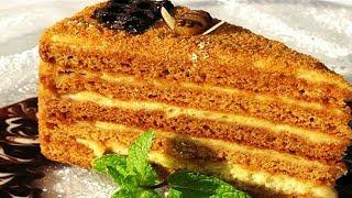 Как приготовить медовый торт. Как испечь медовик. Самый вкусный рецепт медовика.