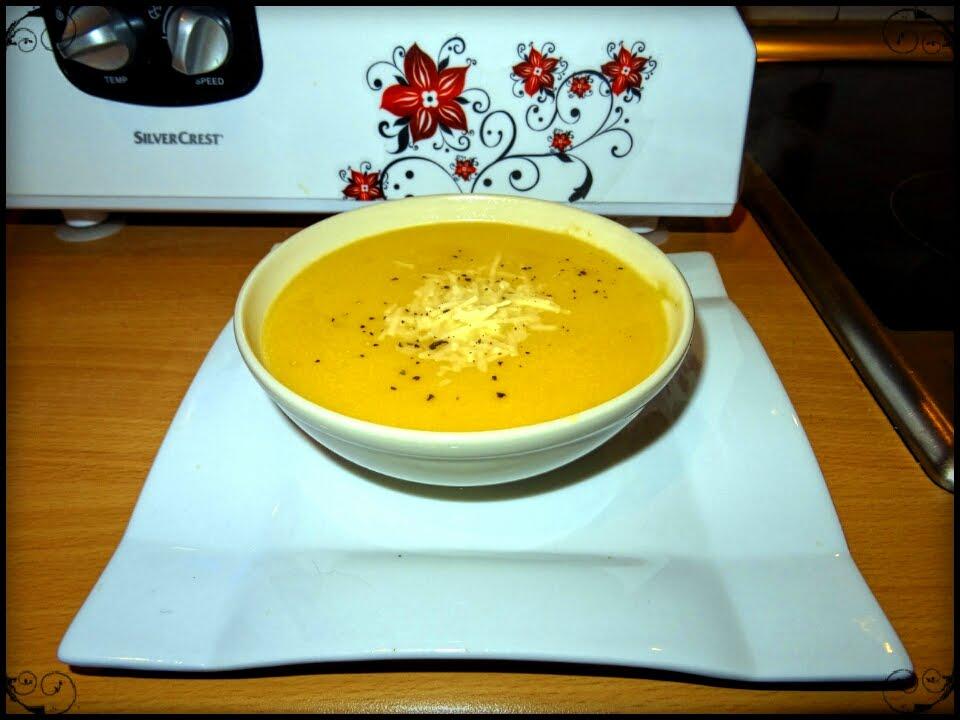 Receta de crema de calabaza con queso de cabra monsieur for Silvercrest monsieur cuisine