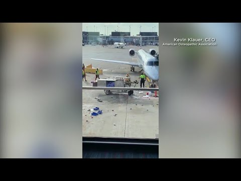 MORNING NEWS - Caught on Camera! Runaway Airport Cart Spirals Out of Control