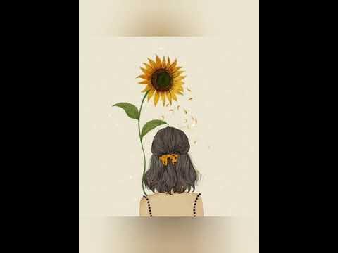 Anime  những cô gái và hoa hướng dương