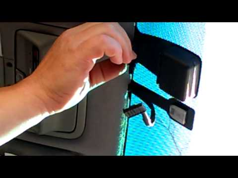 Remove Rear View Mirror And Rain Sensor - Lexus - YouTube