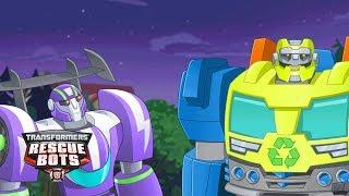 Transformers: Rescue Bots Season 3 - 'New Rescue Recruits, Blurr & Salvage!' Official Clip