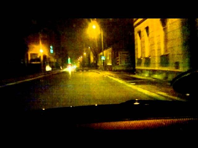 NOKIA N8 jako rejestrator trasy - noc