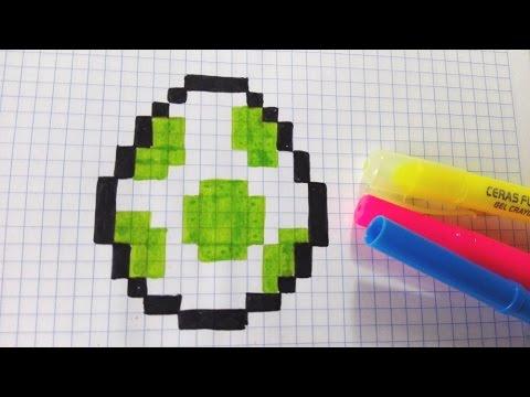 Draw Handmade Pixel Art Como Dibujar HUEVO YOSHI